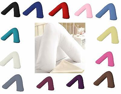 V Shaped Pillow Case Cover - Pregnancy Maternity Orthopaedic Support Nursing • 3.99£