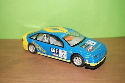 HORNBY SCALEXTRIC RENAULT MEGANE SLOT CAR Blue Yellow No 2 Working Lights! • 19£