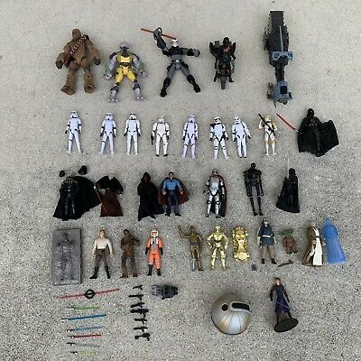 $ CDN88.59 • Buy Vintage Star Wars Collection Figures Vehicles Lot Of Over 50 Items