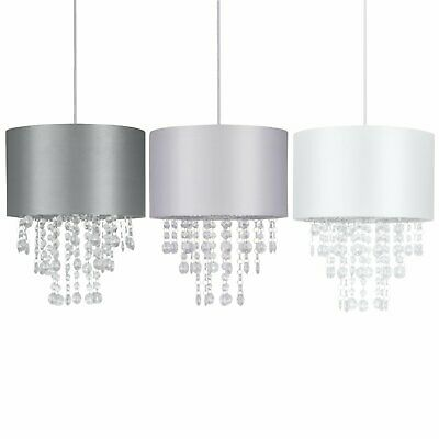 Modern Jewelled Ceiling Light Shades Easy Fit Pendant Lightshades • 19.99£