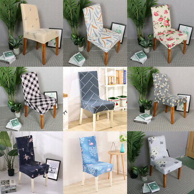AU25.99 • Buy 1-6PCS Dining Chair Covers Kitchen Home Seat Cover Stretch Removable Slipcover