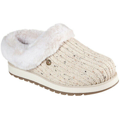 Skechers Ladies Keepsakes Instant Flashback Cream Slip On Mule Slippers 113411 • 37.95£