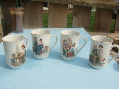 $ CDN12.45 • Buy Vintage 1982 Norman Rockwell Museum Collection Set Of 4 Coffee Cups Mug