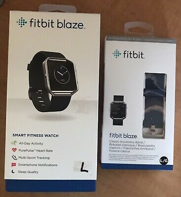 $ CDN66.61 • Buy Fitbit Blaze Smart Fitness Watch, Large With Extra Band - Blue - Used - 69