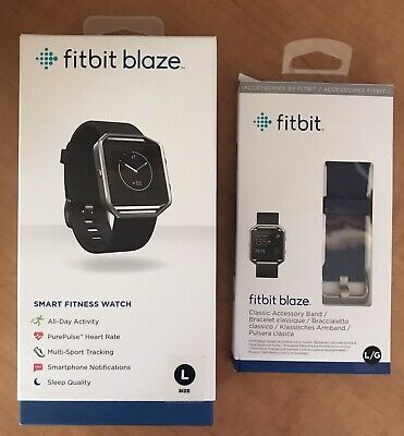 $ CDN66.61 • Buy Fitbit Blaze Smart Fitness Watch, Large With Extra Band - Blue - Used - 66