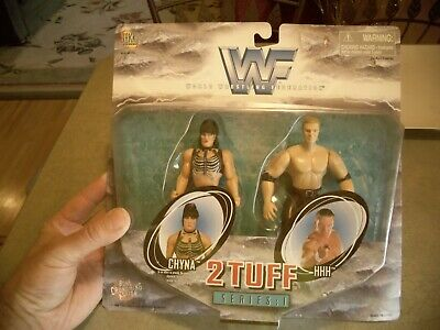 $ CDN15.21 • Buy Chyna & HHH Triple H - WWF 2 Tuff Series 1 - Jakks Pacific 1998 New WWE #5