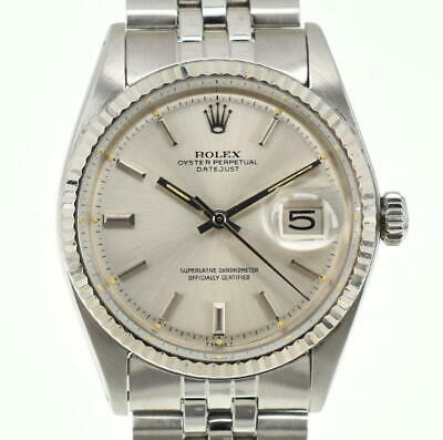 $ CDN4543.14 • Buy ROLEX DATEJUST 1601 Stainless Steel Silver Dial Automatic Men's Watch P#99243