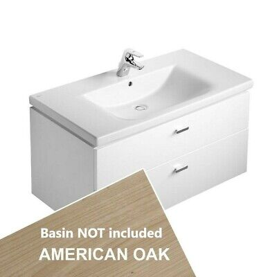 Ideal Standard Concept Wall 2 Drawer 700 Vanity Unit Oak Brown Art E6506SO • 89£