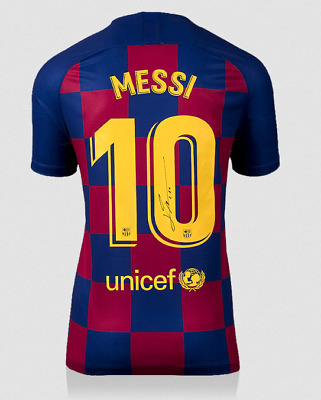 AU994.56 • Buy Lionel Messi Signed 2019-20 FC Barcelona Nike Jersey Mint Autograph Icons COA