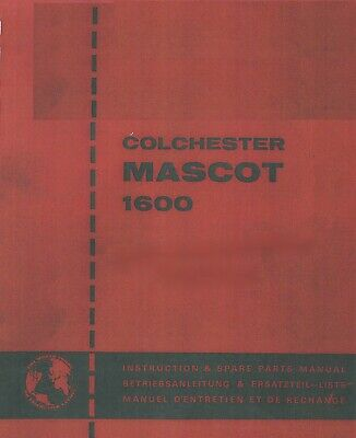 £4.22 • Buy Colchester Mascot 1600 Lathe Use And Maintenance Manual And Parts List PDF