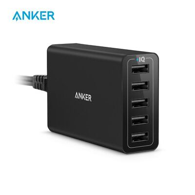 AU42.95 • Buy Anker 40W 5-Port USB Wall Charger, PowerPort 5 For IPhone,iPad Pro/Air,Galaxy