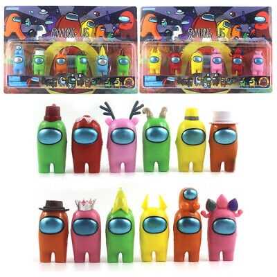 6Pcs/12Pcs New Among Us Game PVC Action Figures Collection Toys Kids Xmas Gifts • 19.98£