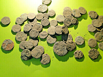 5 Encrusted Roman Bronze Coins For Cleaning And Identification (Limited Quantity • 14.95£