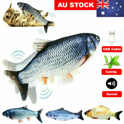 AU12.99 • Buy Electric Dancing Fish Kicker Cat Toy Wagging Realistic Moves USB Rechargeable
