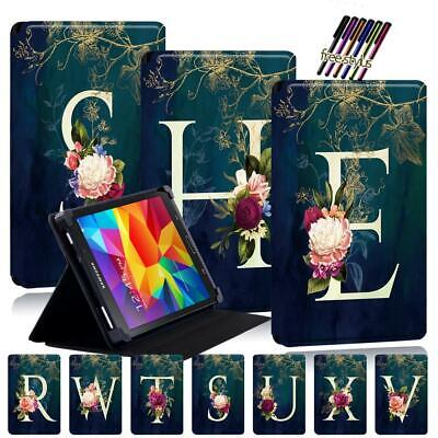£7.96 • Buy Initials Leather Stand Case Cover For Samsung Galaxy Tab 2/3/4  7.0'' 8.0/ 10.1'