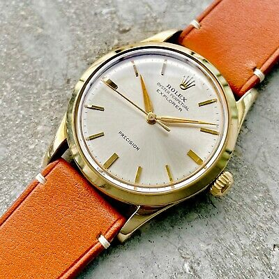 $ CDN3799.95 • Buy 1960 Rolex Gold Capped Oyster Perpetual Automatic 5506 - Scarce Explorer Dial