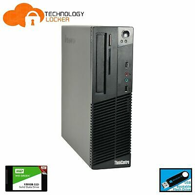 AU1570.25 • Buy Lenovo ThinkCentre M73 SFF Desktop PC Intel G3220 8GB RAM 120GB New SSD Win 10