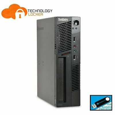 AU123.25 • Buy Lenovo ThinkCentre M91p SFF Desktop PC Intel I5-2500 8GB RAM  500GB HDD Wins 10