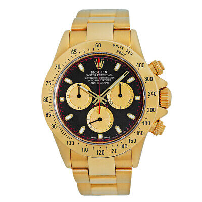 $ CDN44167.86 • Buy ROLEX 18K Yellow Gold 40mm Rolex Daytona 116528 Paul Newman Box Warranty MINTY