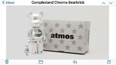 $399 • Buy Atmos Chrome Bearbrick Be@Rbrick 100% + 400% *ORDER CONFIRMED* LE Complexland