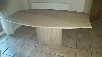 Stunning Oval Shaped Cream Marble Effect Stone Dining Table - Collect From NE9 • 495£