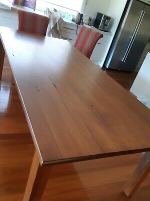 AU550 • Buy Hardwood Dining Table And 8 Chairs PLUS Elastic Table Protector- EXC COND