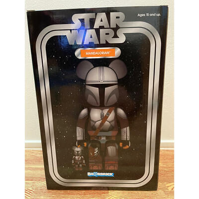 $219.96 • Buy Medicom Toy BE@RBRICK  The MANDALORIAN Star Wars 400%  100% Set Figure Bearbrick