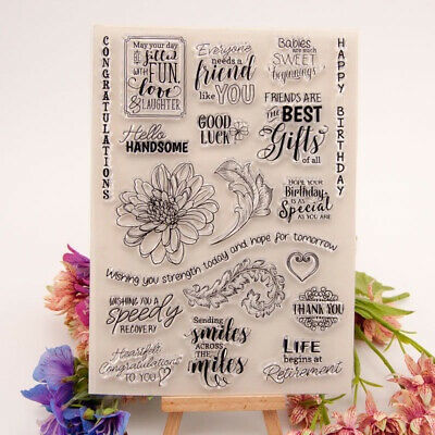 Happy Birthday Transparent Clear Silicone Stamp For Diy Scrapbooking Photodec PT • 4.93£