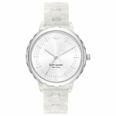 $ CDN112.78 • Buy Kate Spade New York Morningside Three-Hand White Acetate Womens Watch KSW1599