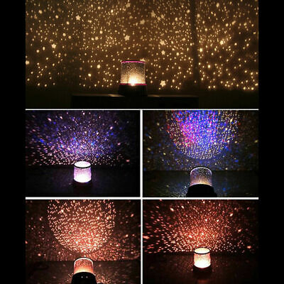 AU15.56 • Buy LED Night Star Sky Projector Light Lamp Starry Baby Room Kids Gift Cosmos Galaxy