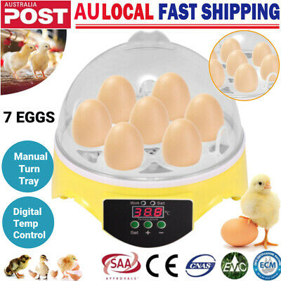AU26.98 • Buy Mini 7 Egg Incubator Fully Automatic Digital Hatcher Chicken Poultry Home Use AU