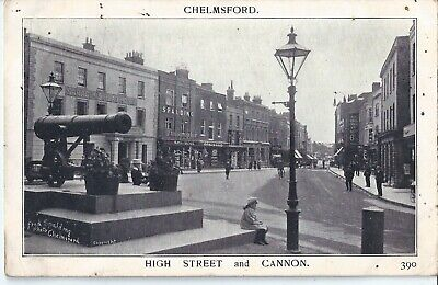 £2.99 • Buy Chelmsford - High Street - 1906  Postcard With Cannon