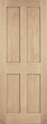 London 4 Panel Oak Unfinished Internal Interior Wooden Solid Door • 131.88£