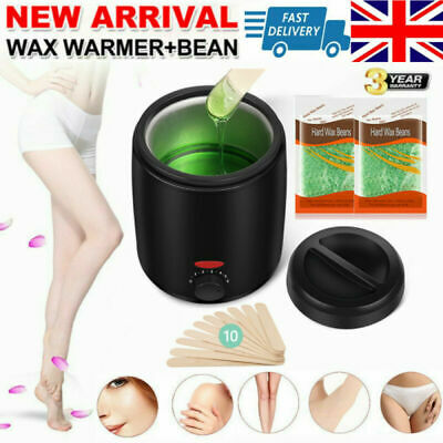 Professional Full Waxing Wax Heater Painless Hair Removal Tool Set Salon Home UK • 12.99£