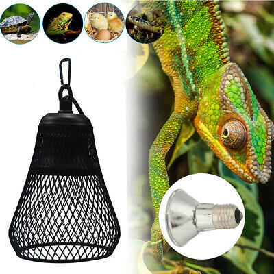 £18.99 • Buy UVB/UVA Reptile Heating Bulb Light Dome Holder Brooder Lamp Shade Safety Cage