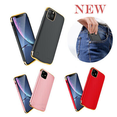 External Battery Charger Power Bank Charging Case Cover For IPhone 11/11 Pro Max • 17.59£