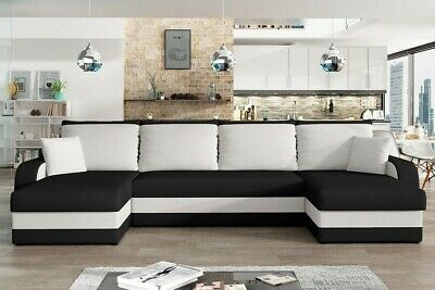 Corner Sofa Bed KRIS U With 3 Storage Containers Symmetrical New • 490£