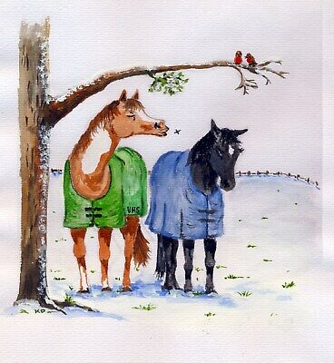 £4.95 • Buy Christmas Cards Sale Animal Charity. Veteran Equine Trust  - Pack Of 10