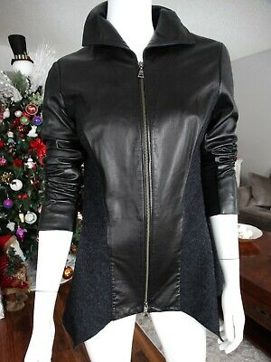 $ CDN95 • Buy DANIER Mixed Media Italian Leather Jacket Small
