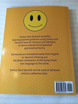 Learn Spanish With Smiley Face Spanish Grammar Book • 6.99£