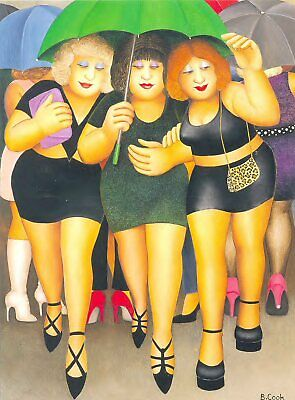 CLUBBING IN THE RAIN By BERYL COOK - Larger Print - NOT A Card • 12.50£