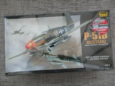 Accurate Miniatures 3418 - P-51b Mustang - Very Rare 1/48 Scale Model Kit  • 20£