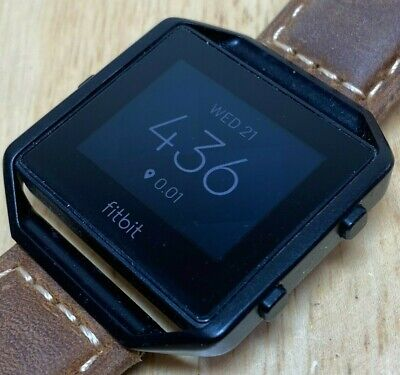 AU67.74 • Buy Fitbit Blaze FB502 Black Leather Band Fitness Watch Activity Tracker Smartwatch