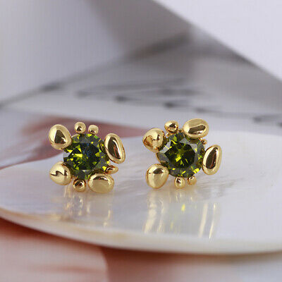 $ CDN22.95 • Buy Kate Spade Green Crystal Gold Small Stud Earrings W/ Gift Box