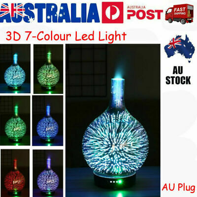 AU26.99 • Buy 3D Firework Essential Oil Aroma Diffuser LED Ultrasonic Humidifier AU Plug Gift