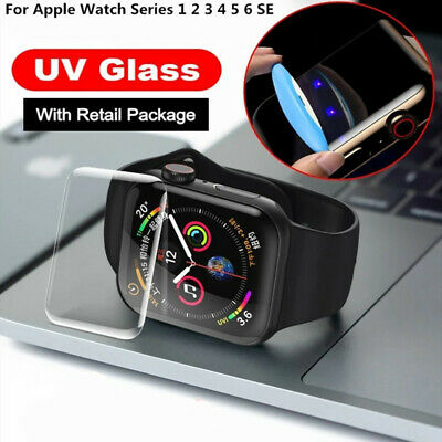 $ CDN4.44 • Buy For Apple Watch Series 6/5/4/3/2/1 UV Liquid Glue Screen Protector 38/40/42/44mm