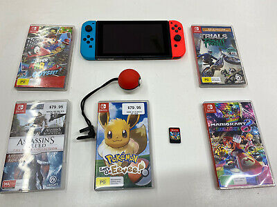 AU549 • Buy Nintendo Switch Console With 6 Games - Pokemon Super Mario Kart Ball