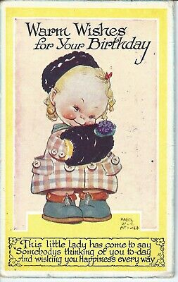 $6.89 • Buy MABEL LUCIE ATTWELL - Warm Wishes For Your Birthday -  1946 Postcard - Set 7
