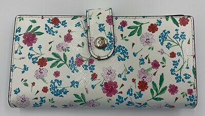 $ CDN56.82 • Buy Kate Spade White Black Floral Wallet Snap Closure