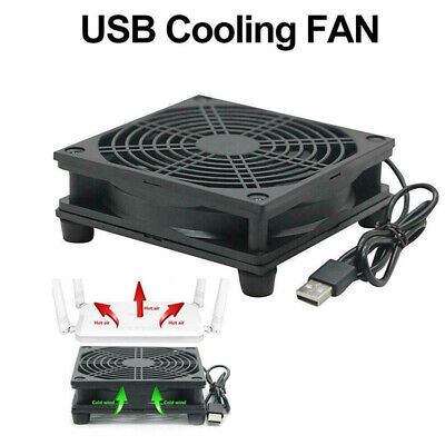 AU16.32 • Buy DC 5V USB Power Router Fan DIY PC Cooler TV Box Wireless Cooling Quiet Nh